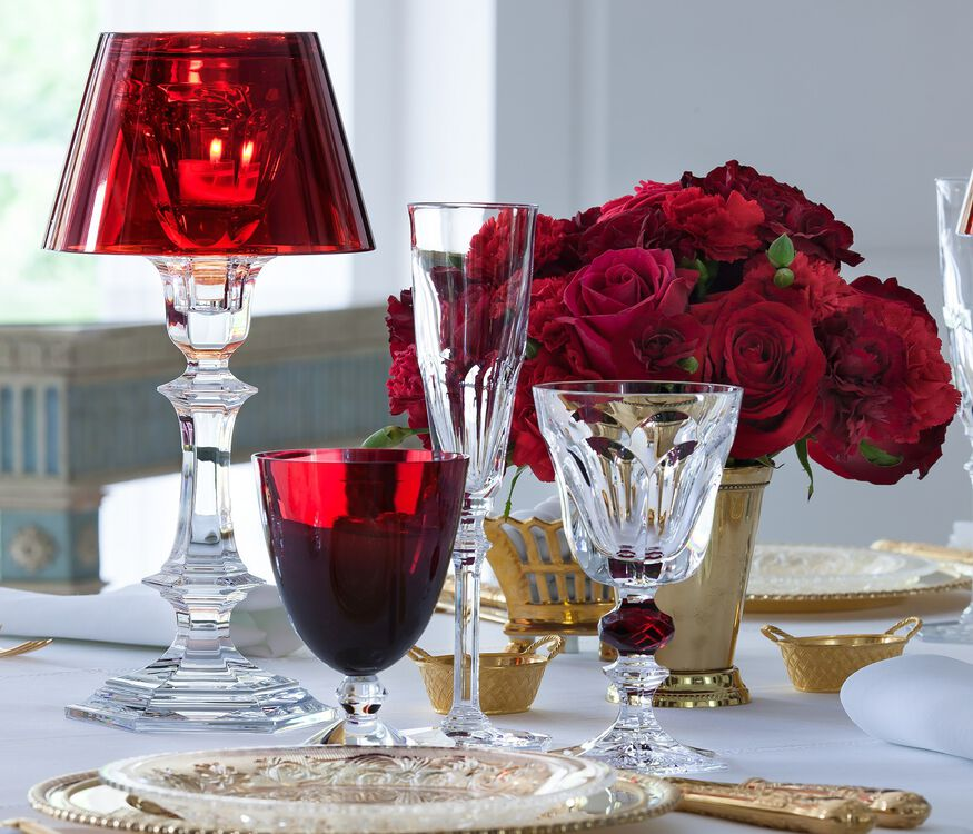 HARCOURT OUR FIRE CANDLESTICK, Red