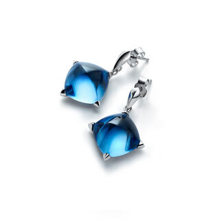 MÉDICIS EARRINGS, Riviera blue