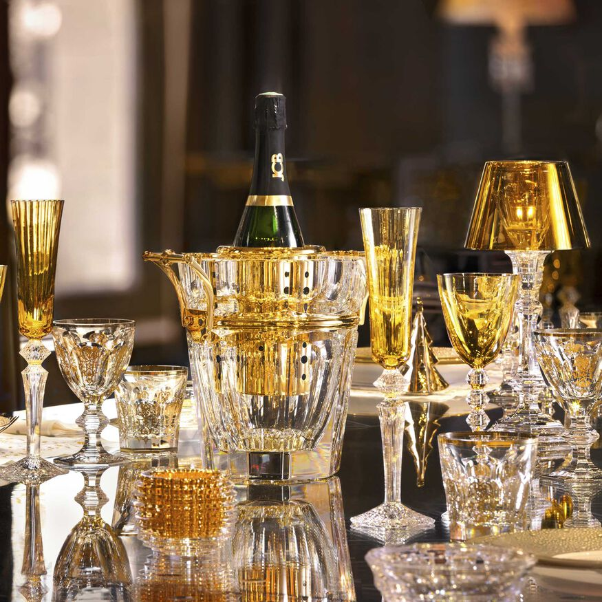 HARCOURT CHAMPAGNE COOLER  Clear & gold - 3