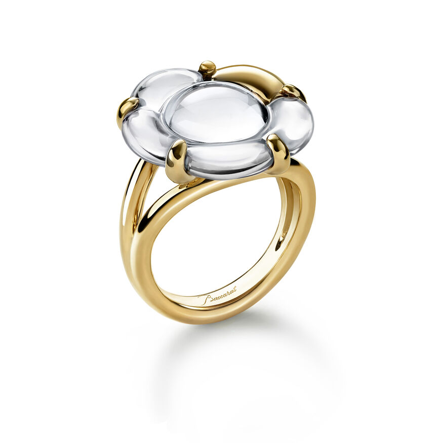 B FLOWER RING  Mirror clear
