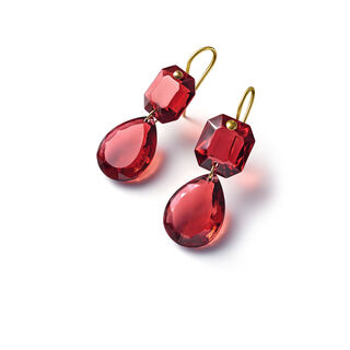 CRYSTAL DROPS OF COLOUR BACCARAT PAR MARIE-HÉLÈNE DE TAILLAC EARRINGS  Red