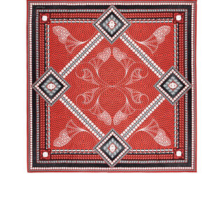 LOUXOR SILK TWILL SCARF  Red