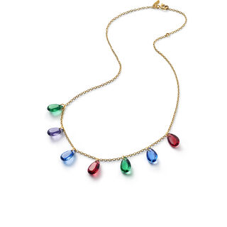 CRYSTAL DROPS OF COLOUR BACCARAT PAR MARIE-HÉLÈNE DE TAILLAC NECKLACE  Gold