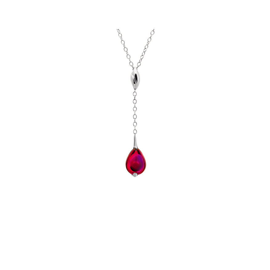 FLEURS DE PSYDÉLIC NECKLACE  Iridescent red - 2