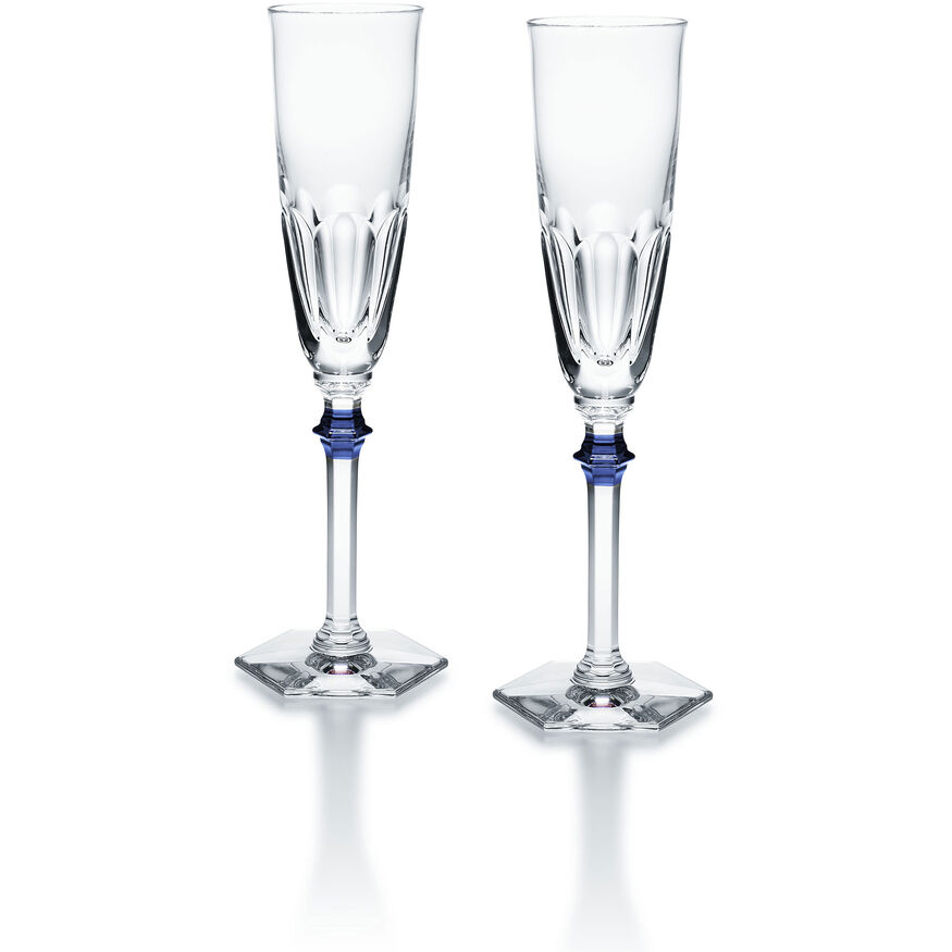 HARCOURT EVE FLUTE  Clear & blue