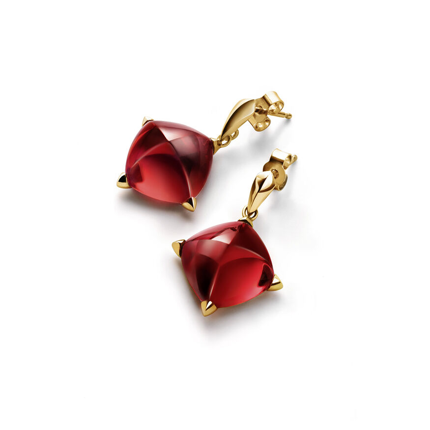 MÉDICIS EARRINGS  Red mirror Image