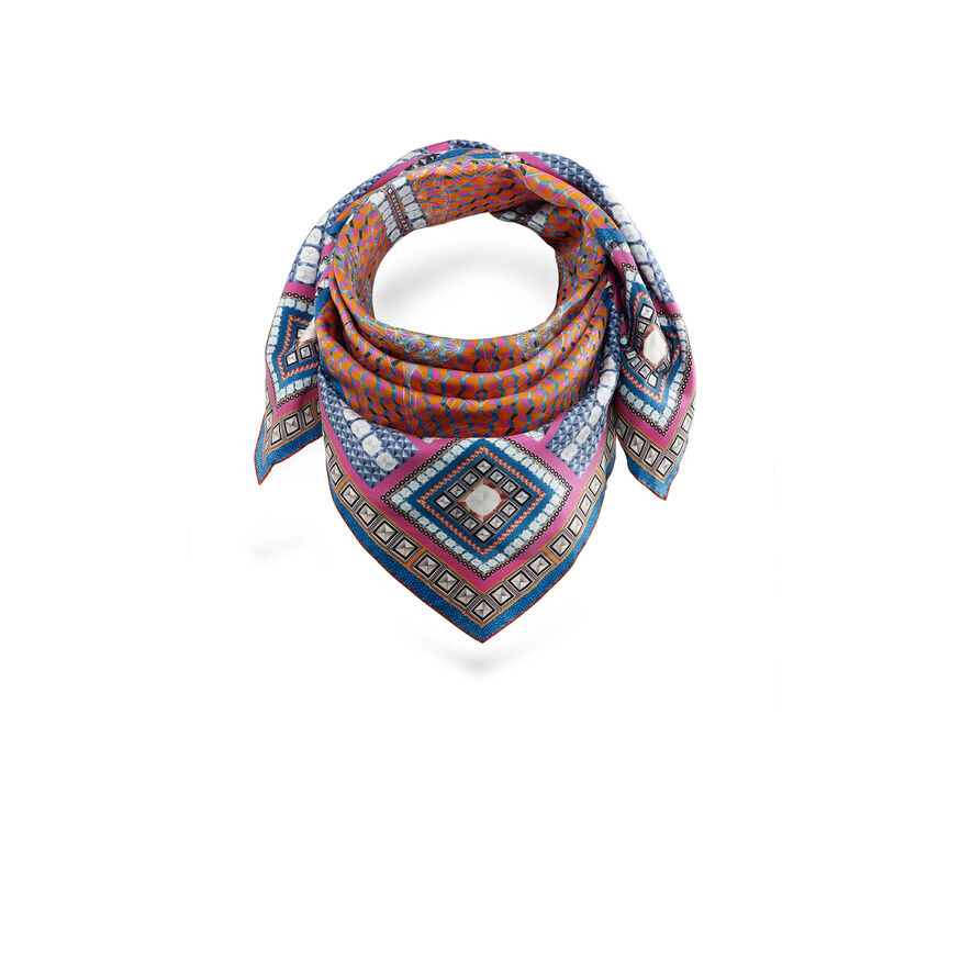 LOUXOR SILK TWILL SCARF  Red - 2