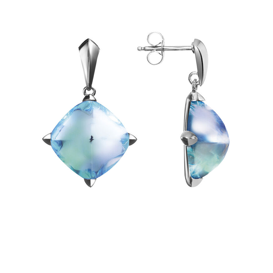 MÉDICIS EARRINGS  Aqua mirror - 2