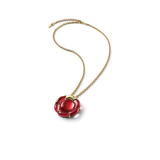 B FLOWER NECKLACE  Red mirror